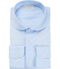 men's suitsupply traveler slim fit blue button-up dress shirt, size 15.75 - blue