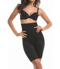 cinta modeladora de perna e cintura alta mondress lingerie preto