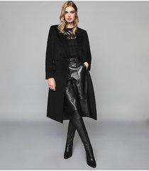 reiss faye - burnout jersey top in black, womens, size xl