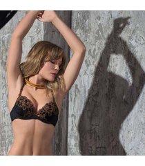 ambra lingerie bh's platinum classic oil push bh zwart