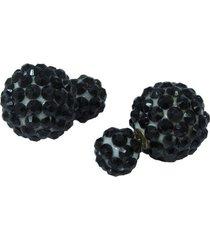 aretes negros de bolas topo  ar-10951