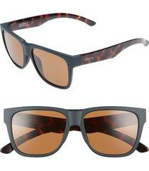 women's smith lowdown 2 55mm chromapop(tm) square sunglasses - matte forest tortoise