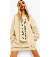 official collection oversized hoodie jurk, zand