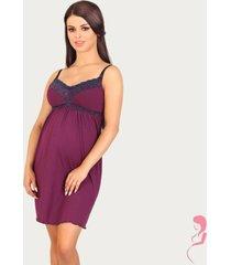 lupoline zwangerschapsjurk / voedingsjurk dark purple