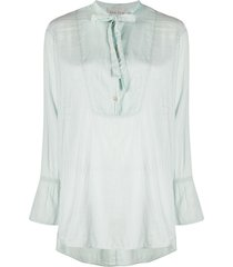 forte forte relaxed neck-tied blouse - blue
