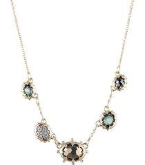 alexis bittar women's georgian 10k yellow goldplated & multi-stone necklace
