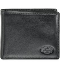 mancini equestrian2 collection rfid secure center wing wallet with zippered coin pocket