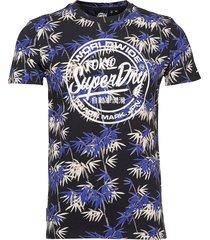super 5's tee t-shirts short-sleeved blå superdry