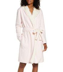 women's ugg portola reversible hooded robe, size medium - pink