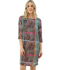 jurk amy vermont turquoise::paars::pink