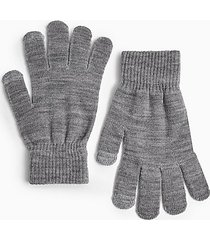grey knitted touchscreen gloves - grey
