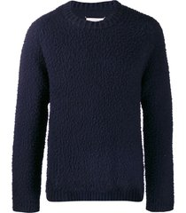 maison margiela destroyed sweater - blue
