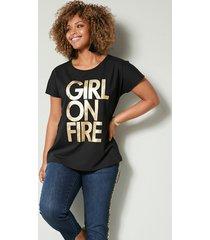 shirt angel of style zwart::goudkleur