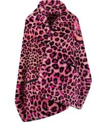 alberta ferretti leopard print cape