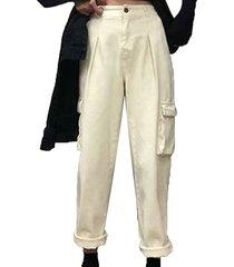 monos de cintura alta de mujeres slim sueltos hip hop casual pantalones casual recta