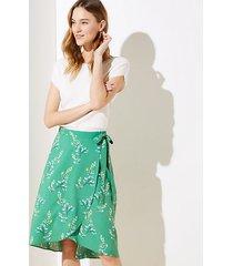 loft flower branch wrap skirt
