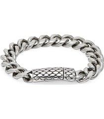 jean claude men's bee hive curb chain bracelet