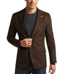 nautica brown microsuede modern fit sport coat