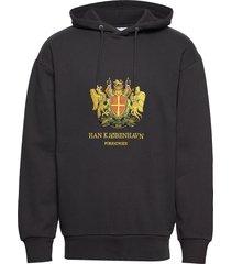artwork hoodie hoodie trui zwart han kjøbenhavn