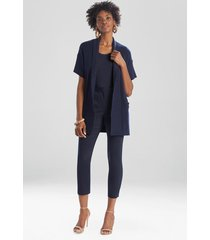 natori beijing textured knit cardigan top, women's, cotton, size xs