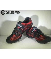 zapatillas para ciclismo de ruta smart sm3 sm0003m roja negra