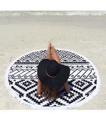 beach lulu the round beach towel tribal cotton