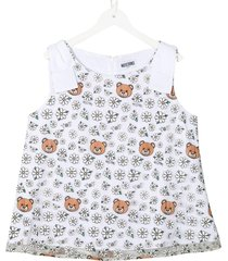 tanktop with teddy and flower allover print