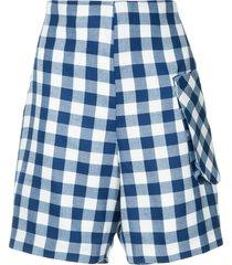 bambah royal gingham shorts - blue