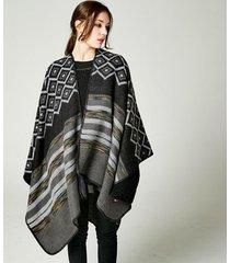 lozenge colored ab wear shawl famous brand winter fashion pashmina cape outerwea