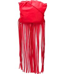 bottega veneta the fringe pouch shoulder bag - red