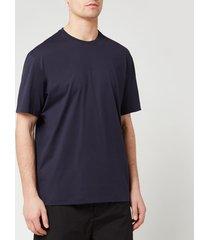 y-3 men's black logo short sleeve t-shirt - legend ink - l