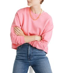 women's madewell swing sweatshirt, size x-large - pink