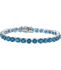 blue topaz tennis bracelet (19 ct. t.w.) in sterling silver