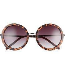 women's bp. 52mm round sunglasses - brown tort