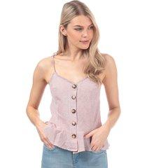 womens button through cami top