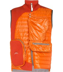 a-cold-wall* panelled multi-pocket gilet - orange