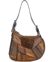 fendi pre-owned '2000s wood panel handbag - brown