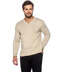 suéter officina do tricô areia