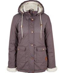 giacca con cappuccio in pellicciotto sintetico (viola) - bpc bonprix collection