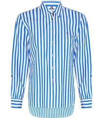 camisa relaxed button down multicolor tommy hilfiger