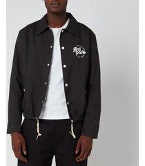ami men's coach jacket - black - xl