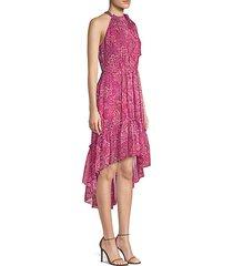 primrose silk high-low dress