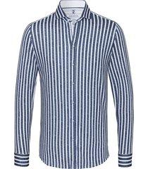 desoto heren overhemd strepen cutaway slim fit jersey