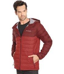 parka columbia powder lite hooded jacket rojo - calce regular