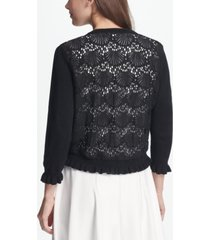 dkny open front cardigan with lace back, created for macy's