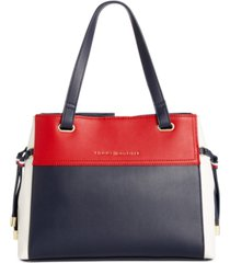 tommy hilfiger katie colorblocked satchel, created for macy's