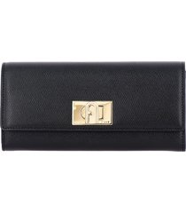furla wallet furla wallet in textured leather with turnstile hook