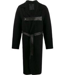 10sei0otto casaco midi com tira frontal - preto