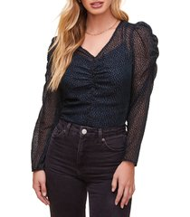women's astr the label spot me puff sleeve top
