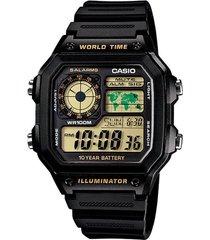 reloj casio ae_1200wh_1bv negro resina